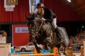 Morsink,Gerben (NED) mit Navarone Z beim Championat von Muenster am 13. 01 2018 Foto: Jenny Musall