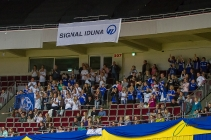 Schalker in der Westfalen Halle beim Jump and Drive 2018 im Rahmen des Signal Iduna Cups. Foto: Jenny Musall