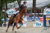 Kathrin Eckermann (GER) und Caleya Championat von Paderborn (CSI3*) DKB-Riders Tour, Qualifikation zur Wertungspruefung, Springpruefung mit Stechen, international, Hoehe: 1,50m 08.09.2018