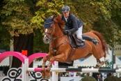 Lennert Hauschild (GER) und Caivano Championat von Paderborn (CSI3*) DKB-Riders Tour, Qualifikation zur Wertungspruefung, Springpruefung mit Stechen, international, Hoehe: 1,50m 08.09.2018