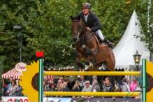 Jan Wernke (GER) und Queen Mary Championat von Paderborn (CSI3*) DKB-Riders Tour, Qualifikation zur Wertungspruefung, Springpruefung mit Stechen, international, Hoehe: 1,50m 08.09.2018
